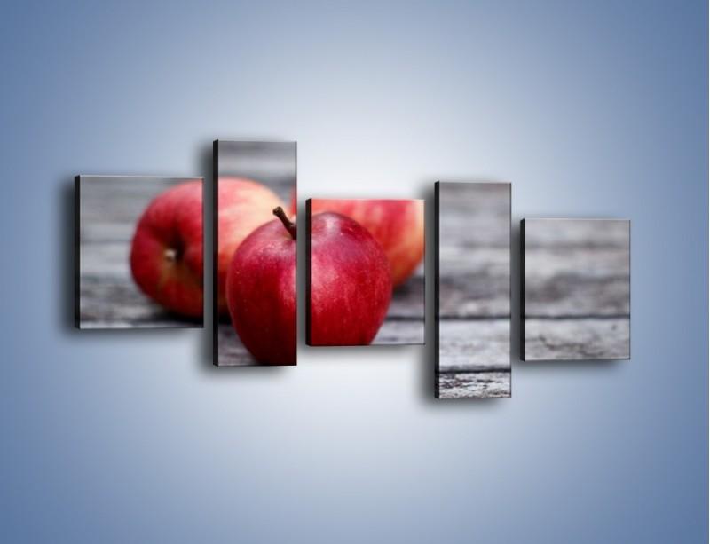 Obraz na płótnie – Jabłkowe zdrowie – pięcioczęściowy JN296W7
