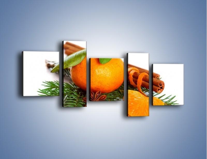 Obraz na płótnie – Pomarańcza na święta – pięcioczęściowy JN306W7