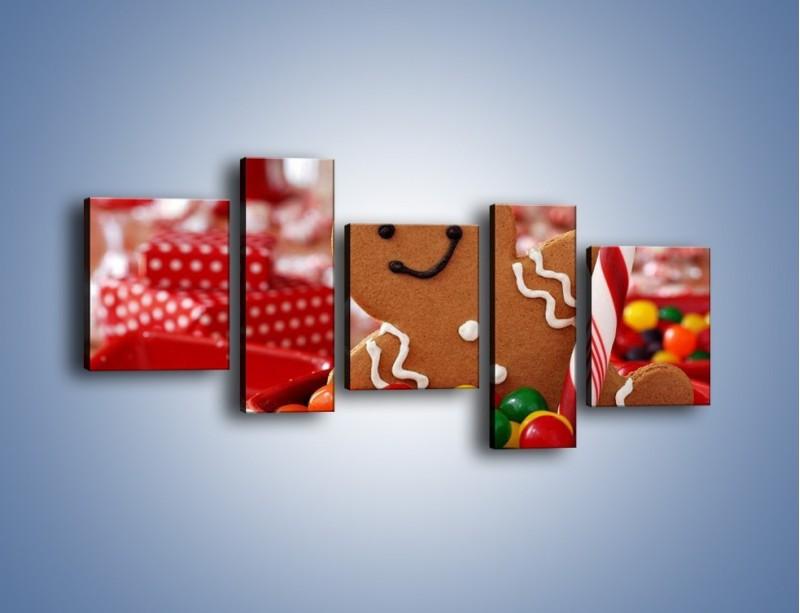 Obraz na płótnie – Ciasteczkowy ulubieniec dzieci – pięcioczęściowy JN308W7