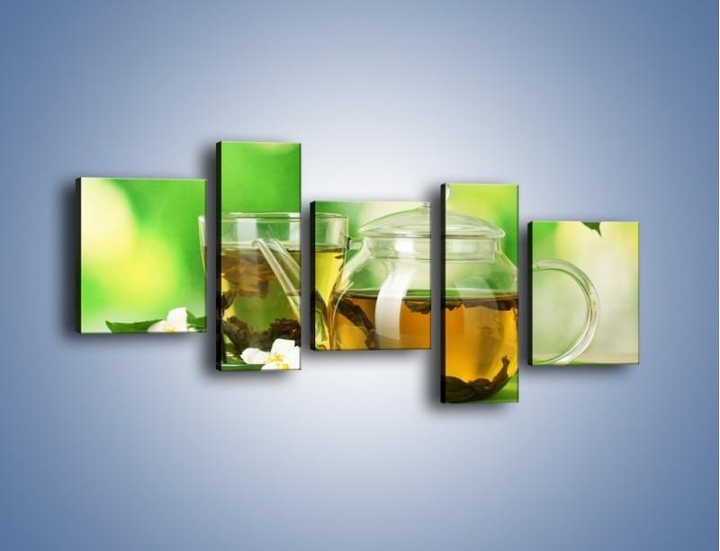 Obraz na płótnie – Herbaciane ukojenie – pięcioczęściowy JN316W7