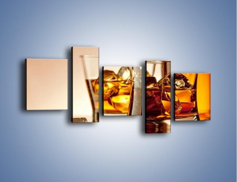 Obraz na płótnie – Męskie rozmowy przy whisky – pięcioczęściowy JN318W7