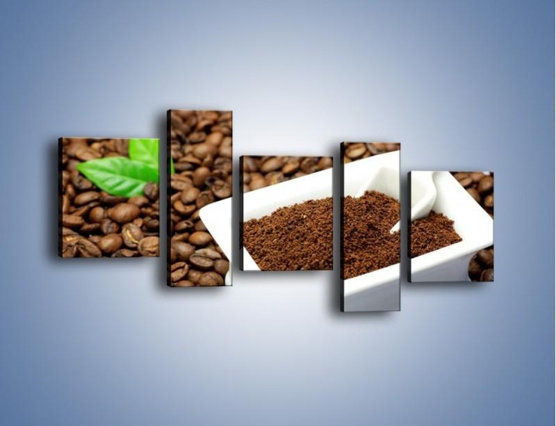 Obraz na płótnie – Zmielona kawa – pięcioczęściowy JN340W7