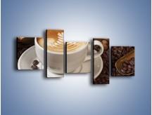 Obraz na płótnie – Czas na kawę – pięcioczęściowy JN353W7