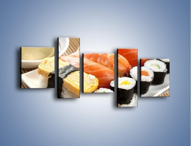 Obraz na płótnie – Azjatyckie posiłki – pięcioczęściowy JN355W7