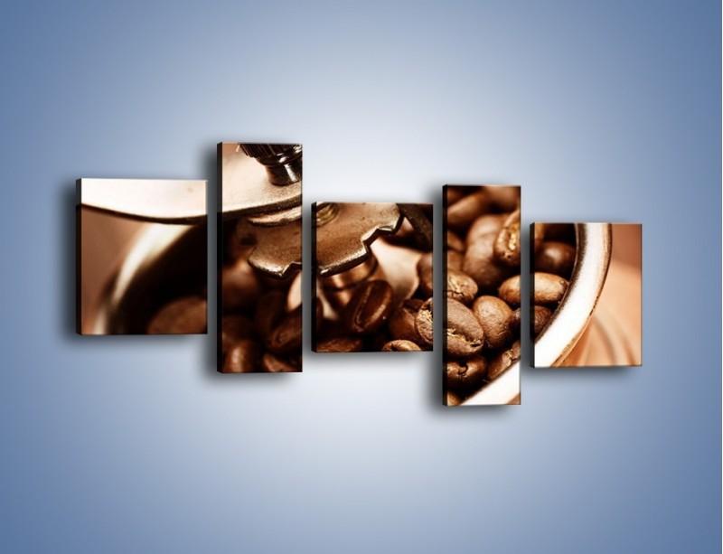 Obraz na płótnie – Kawa w młynku – pięcioczęściowy JN361W7