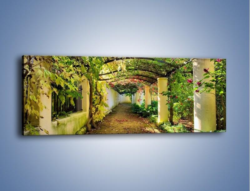 Obraz na płótnie – Wędrówka dla zakochanych – jednoczęściowy panoramiczny KN504