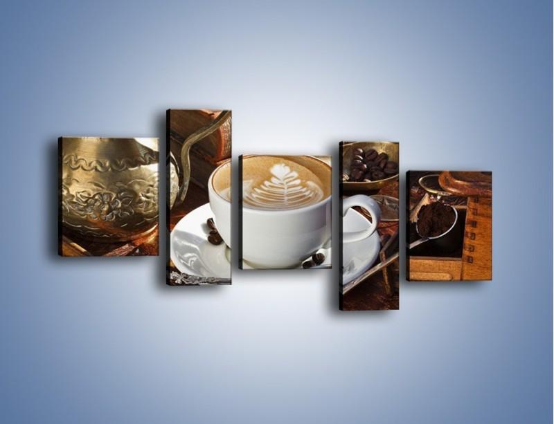 Obraz na płótnie – Wspomnienie przy kawie – pięcioczęściowy JN377W7