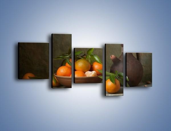 Obraz na płótnie – Miska nazrywanych pomarańczy – pięcioczęściowy JN381W7