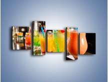 Obraz na płótnie – Barmańskie drinki – pięcioczęściowy JN433W7
