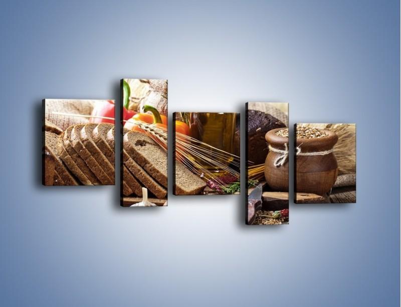 Obraz na płótnie – Chleb w roli głównej – pięcioczęściowy JN501W7