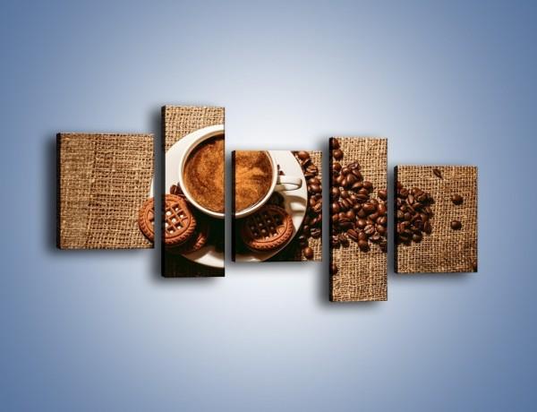 Obraz na płótnie – Kawowe słodkości na deser – pięcioczęściowy JN676W7