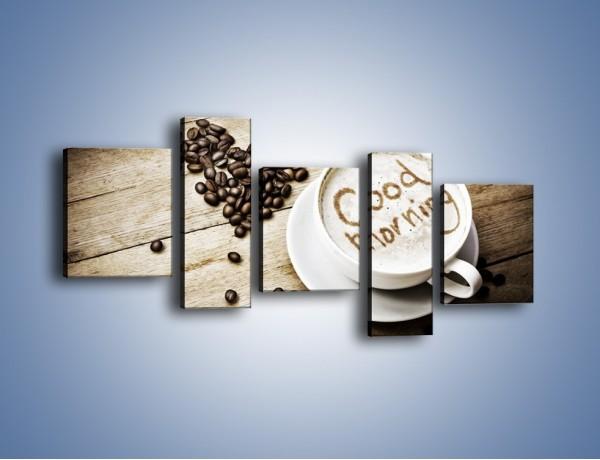 Obraz na płótnie – Z miłości do kawy – pięcioczęściowy JN710W7