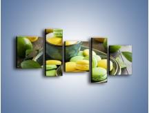 Obraz na płótnie – Cytrynowo-limonkowe ciasteczka – pięcioczęściowy JN724W7