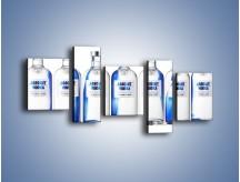 Obraz na płótnie – Czysta wódka w butelkach – pięcioczęściowy JN748W7