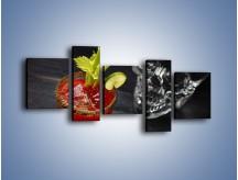 Obraz na płótnie – Czerwony drink z selerem – pięcioczęściowy JN751W7