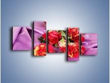 Obraz na płótnie – Błogi odpoczynek z różą – pięcioczęściowy K251W7