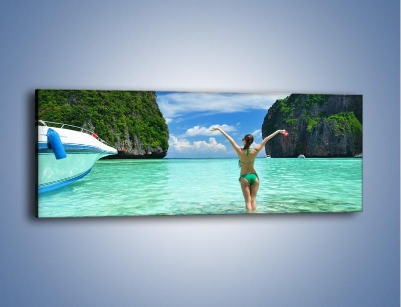 Obraz na płótnie – Udane wakacje w ciepłych krajach – jednoczęściowy panoramiczny KN530