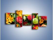 Obraz na płótnie – Bukiet pełen soczystych kolorów – pięcioczęściowy K461W7