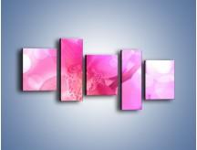Obraz na płótnie – Budzący dzień w różowym kwiecie – pięcioczęściowy K487W7