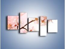 Obraz na płótnie – Blask kwiatów jabłoni – pięcioczęściowy K569W7