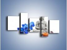 Obraz na płótnie – Budda i kwiat – pięcioczęściowy K593W7