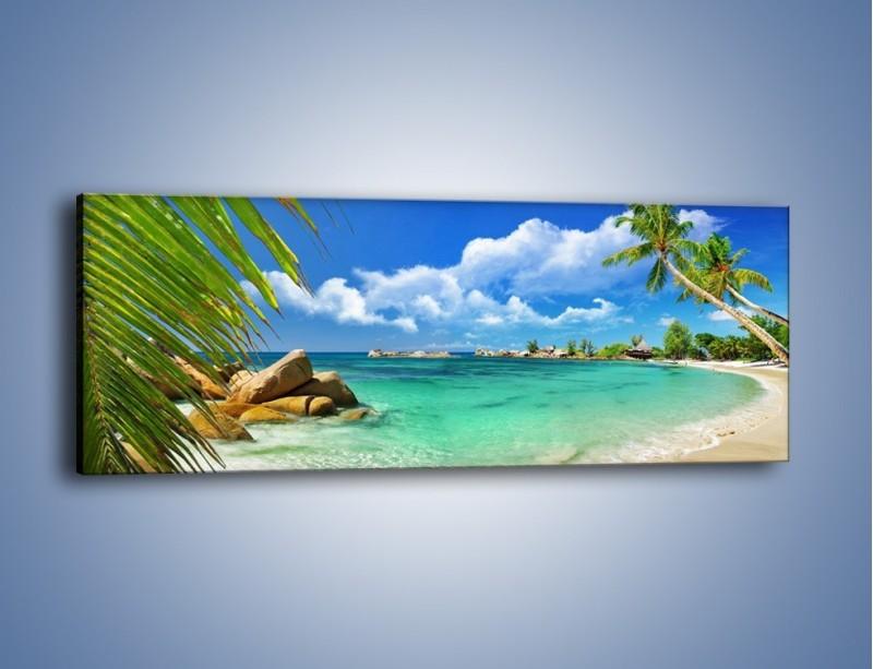 Obraz na płótnie – Tropikalna wyspa z katalogu – jednoczęściowy panoramiczny KN565