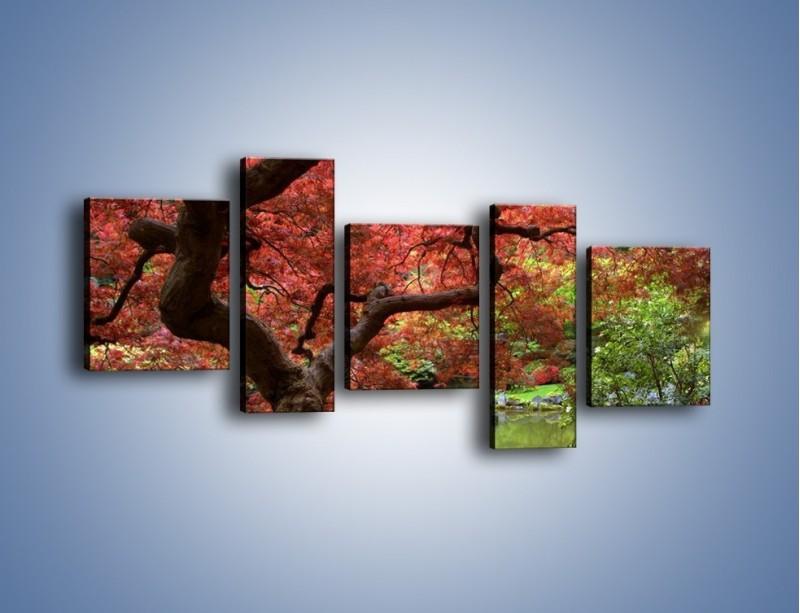 Obraz na płótnie – Pejzaż jak w raju – pięcioczęściowy KN069W7