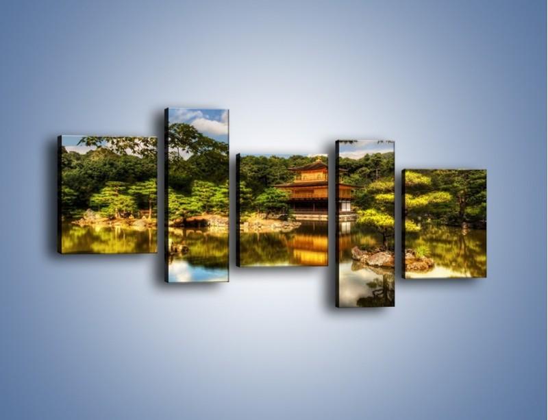 Obraz na płótnie – Widok z domu na wodę – pięcioczęściowy KN1030W7