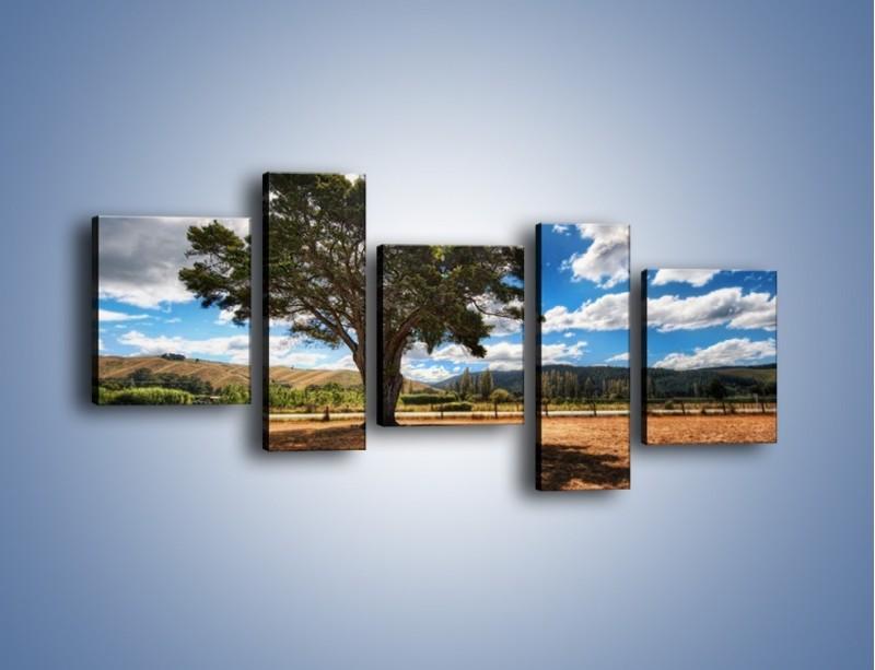 Obraz na płótnie – Cień pod rozłożystym drzewem – pięcioczęściowy KN1037W7