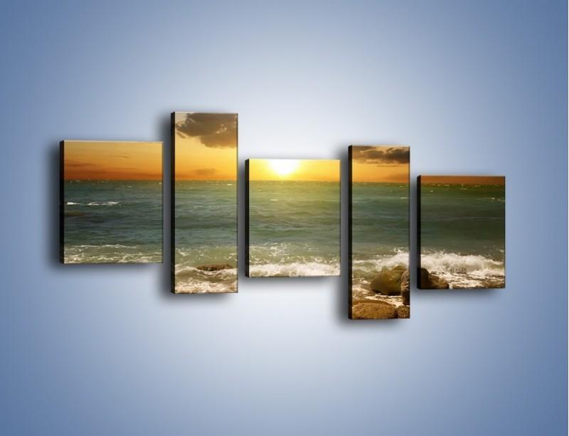 Obraz na płótnie – Brzegiem w stronę morza – pięcioczęściowy KN1092AW7