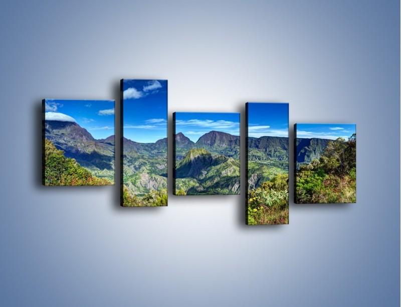 Obraz na płótnie – Zieleń ukryta wysoko w górach – pięcioczęściowy KN1106W7