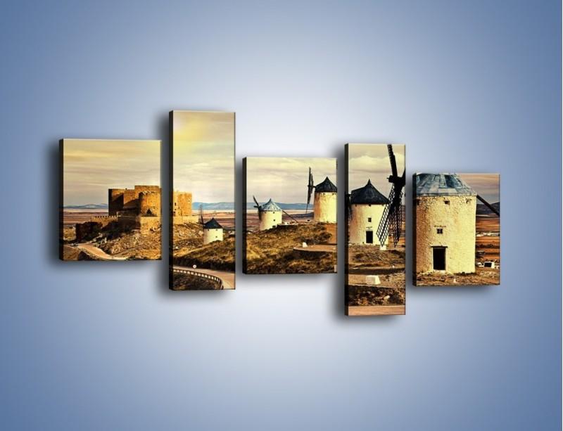 Obraz na płótnie – Młyny przy drodze do zamku – pięcioczęściowy KN1154AW7