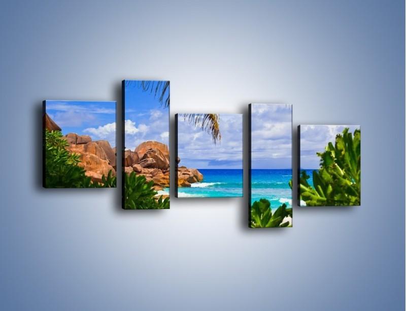 Obraz na płótnie – Urlop pod palmami – pięcioczęściowy KN1191AW7