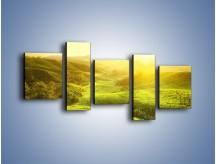 Obraz na płótnie – Zieleń w dolinie – pięcioczęściowy KN1204AW7