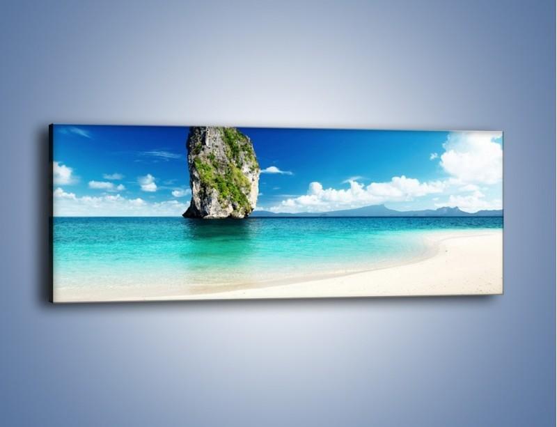 Obraz na płótnie – Woda z jednym towarzyszem – jednoczęściowy panoramiczny KN574