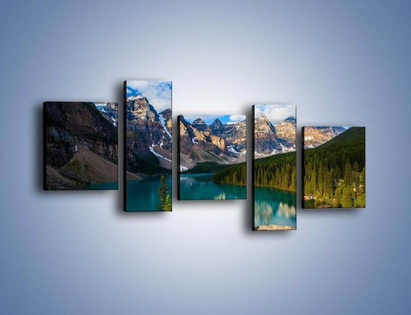 Obraz na płótnie – Spokój w górach – pięcioczęściowy KN1258AW7