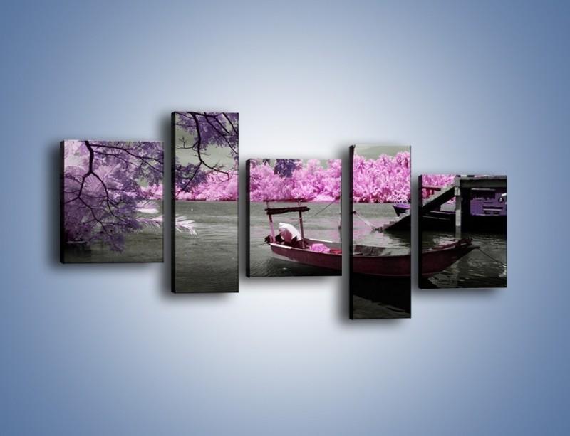 Obraz na płótnie – Krajobraz jak z japonii – pięcioczęściowy KN1277AW7