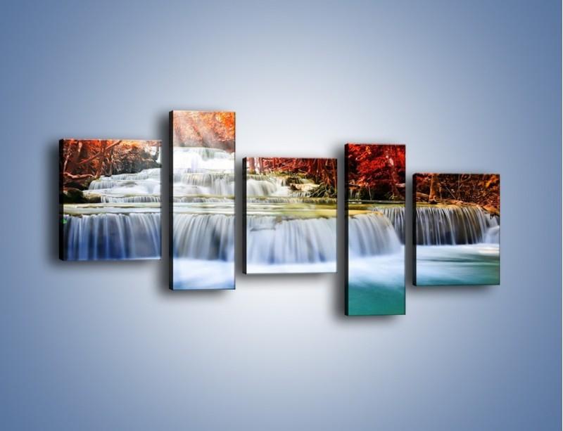 Obraz na płótnie – Jak przyjemnie nad wodą – pięcioczęściowy KN1291AW7