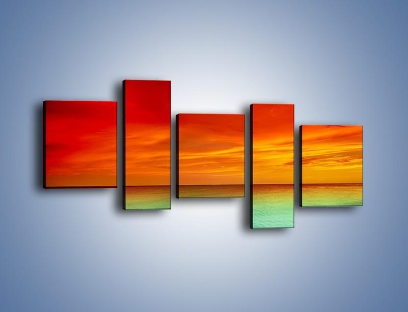 Obraz na płótnie – Horyzont w kolorach tęczy – pięcioczęściowy KN1303AW7