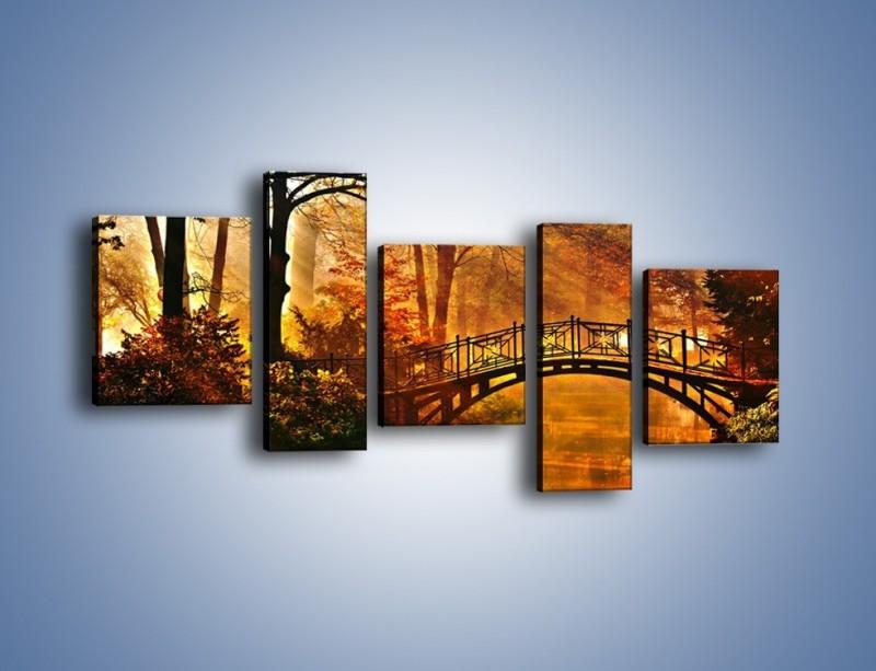 Obraz na płótnie – Cudowny spacer jesienną porą – pięcioczęściowy KN1319AW7