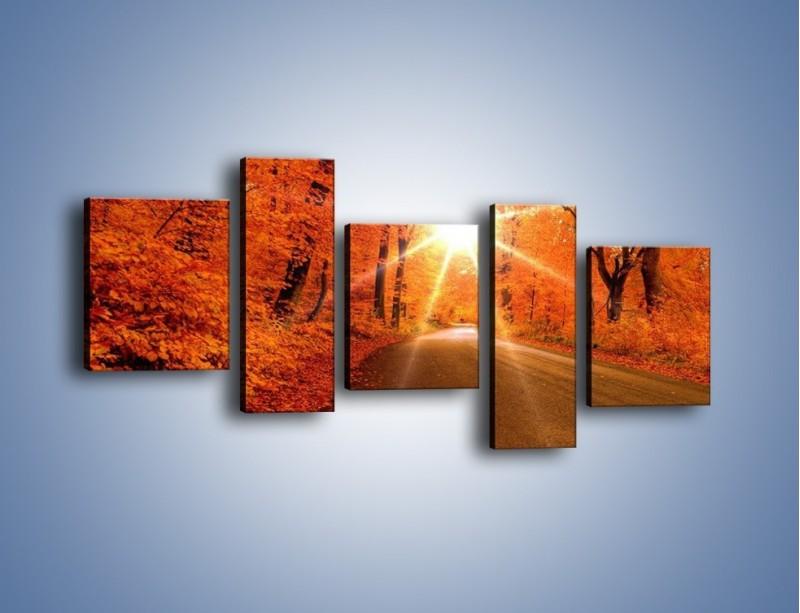Obraz na płótnie – Droga pełna słońca – pięcioczęściowy KN160W7