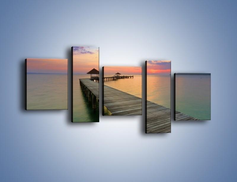 Obraz na płótnie – Krętym pomostem do morza – pięcioczęściowy KN327W7