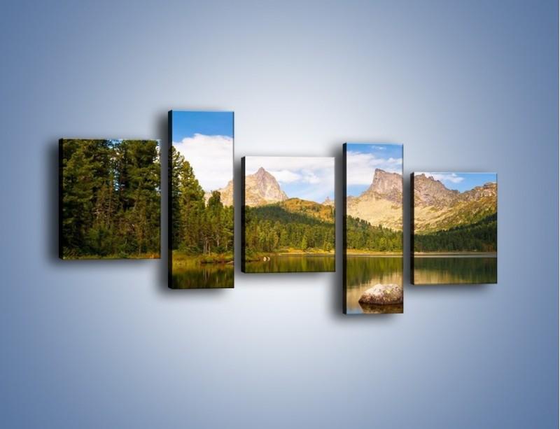 Obraz na płótnie – Widok nie tylko na góry – pięcioczęściowy KN401W7