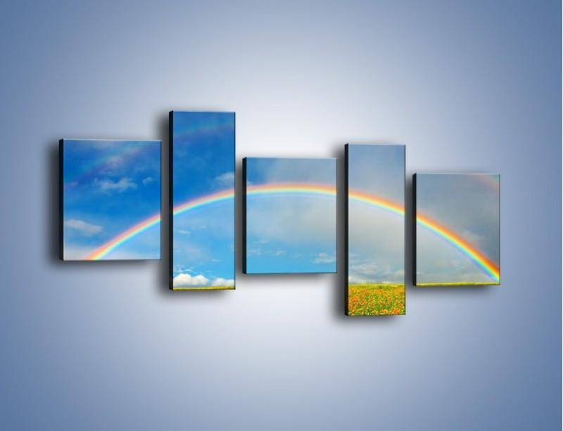 Obraz na płótnie – Urok kolorowej tęczy – pięcioczęściowy KN406W7
