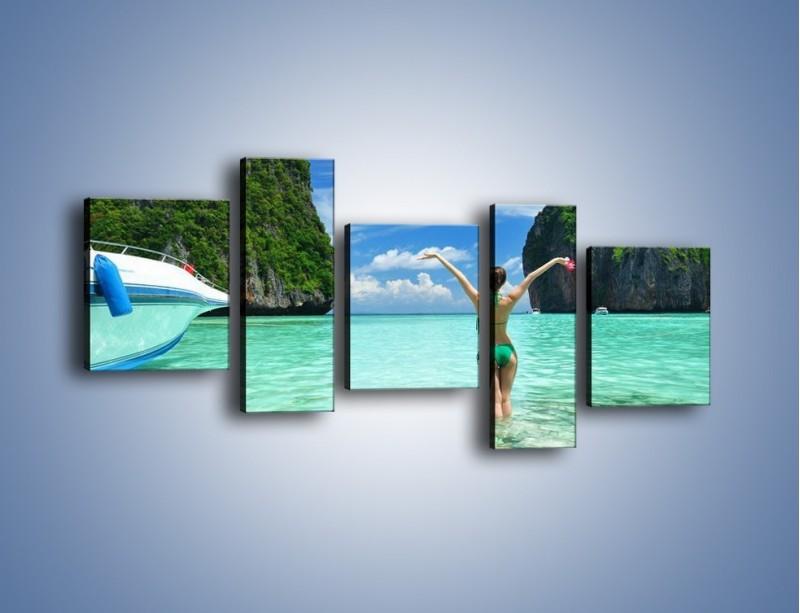 Obraz na płótnie – Udane wakacje w ciepłych krajach – pięcioczęściowy KN530W7