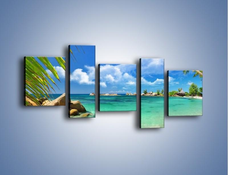 Obraz na płótnie – Tropikalna wyspa z katalogu – pięcioczęściowy KN565W7