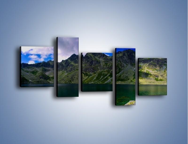 Obraz na płótnie – Horyzont górskich szczytów – pięcioczęściowy KN856W7