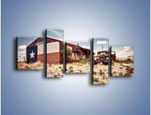 Obraz na płótnie – Autem przez texas – pięcioczęściowy KN874W7