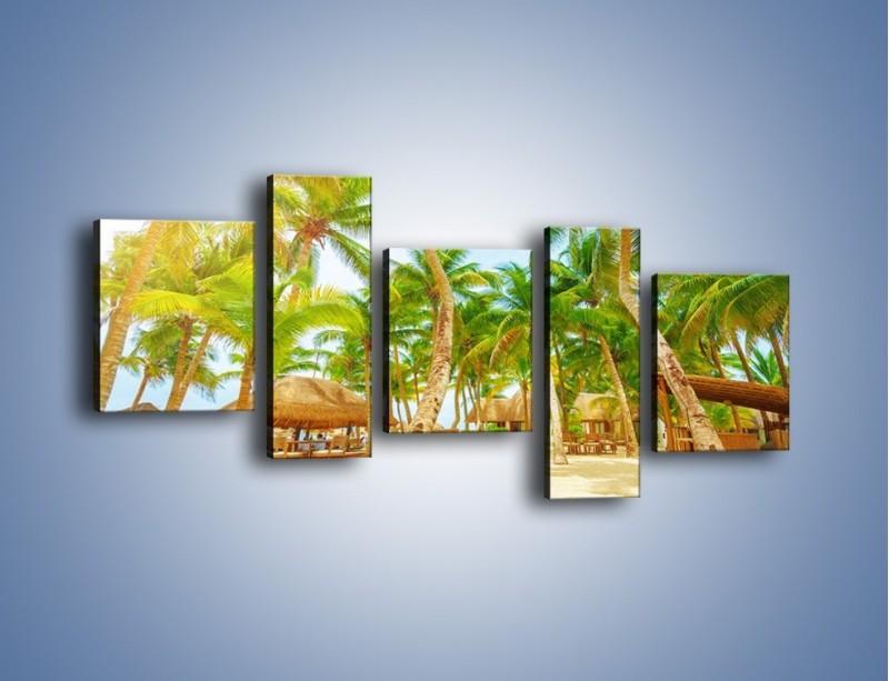 Obraz na płótnie – Słoneczna sjesta pod palmami – pięcioczęściowy KN886W7