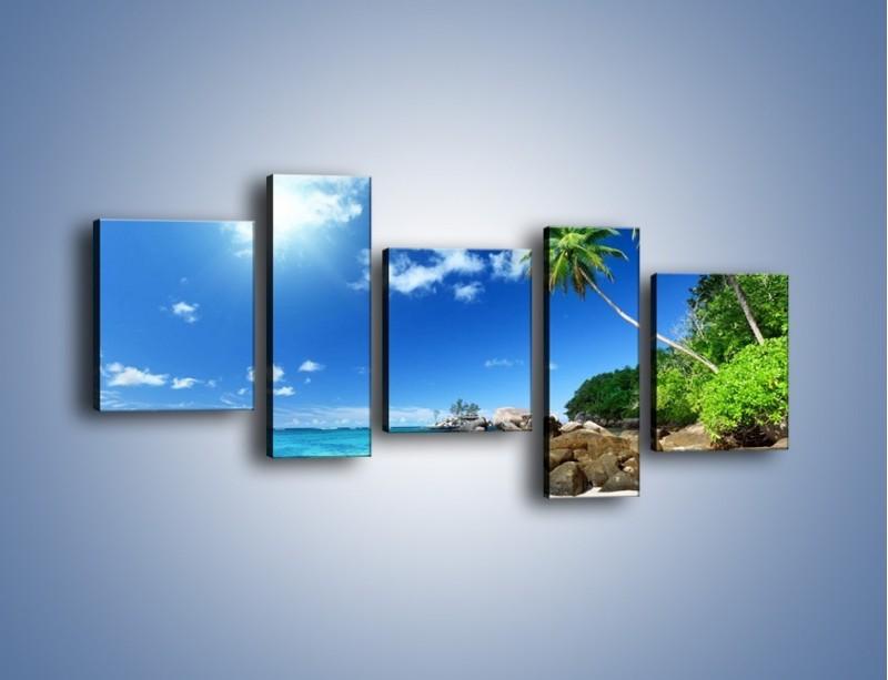 Obraz na płótnie – Rajska plaża i jej piękno – pięcioczęściowy KN963W7